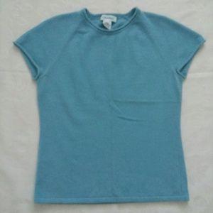 100% cashmere blue top